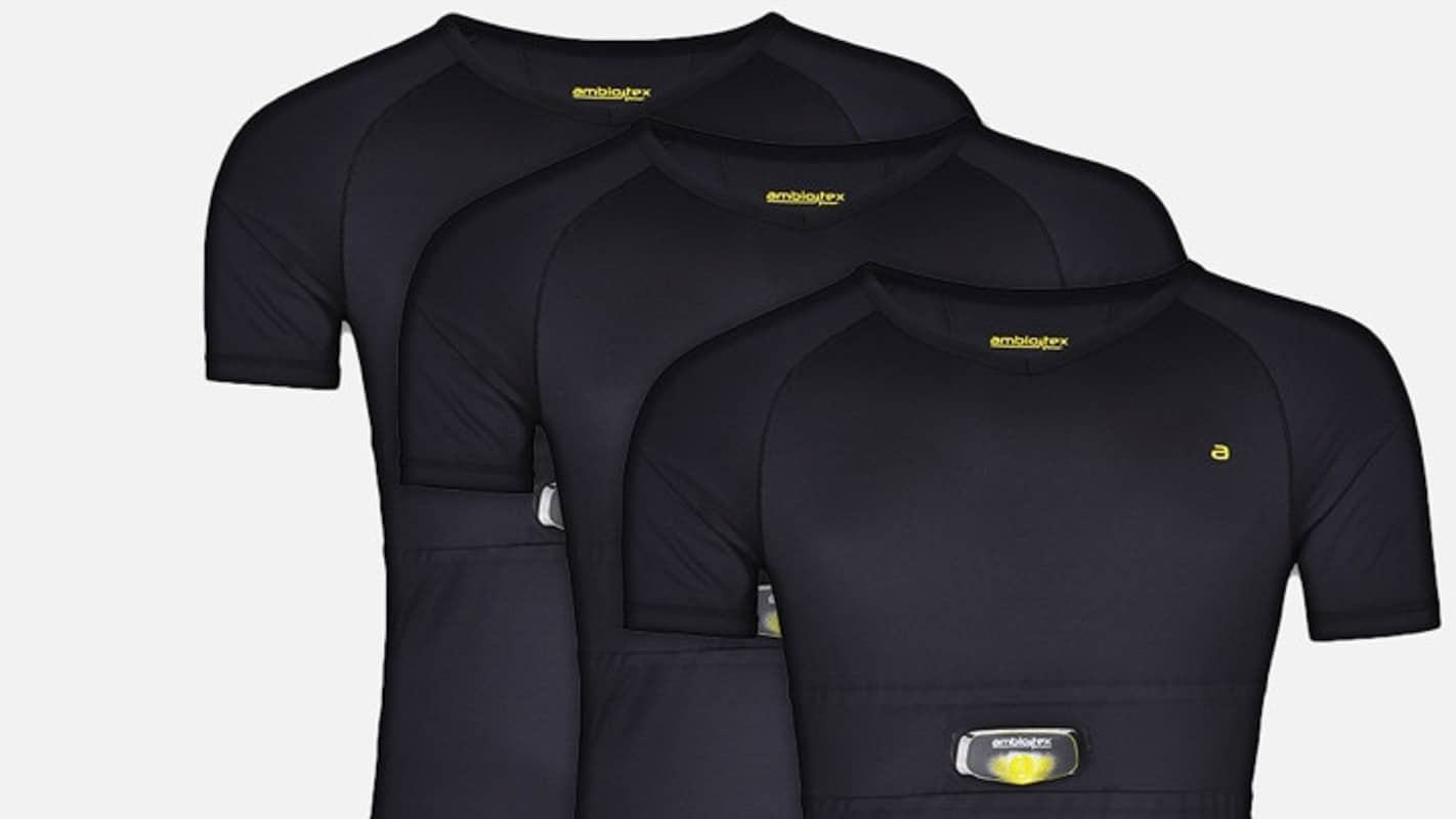 Ambiotex wearable smart clothes with biometrics product close up